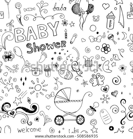 76cf341f4 Pattern Hand Drawn Sketch Accessories Element Stock Vector (Royalty ...