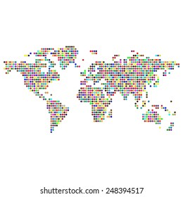 Pattern with the image of the world map