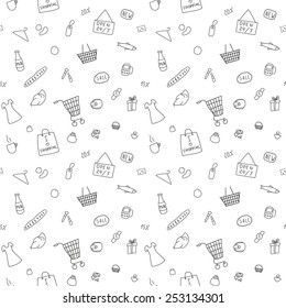 The pattern of the items from the shopping