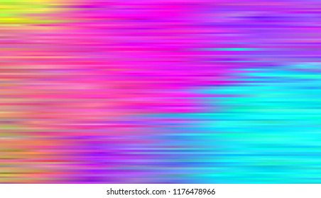 Pattern with lines Rainbow aurora borealis. Abstract colorful background. Bright striped pattern Vector illustration Bright neon colors. Vivid gradient.