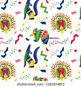 Pattern mexican alebrijes