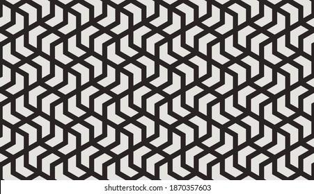Muster mit einfarbigen Streifen und Chevronen. Abstrakte, monochrome geometrische Vektorgrafik für Textil, Stoff und Verpackung. Stilvolles Design für Sonnencreme. Nahtloser geometrischer Hintergrund.