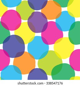 pattern in multi-colored polka dots