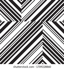 pattern with oblique black segments