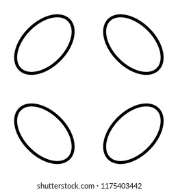 pattern with oblique outline ellipse. Fibonacci ratio Width : Height 233 : 144 (golden number)