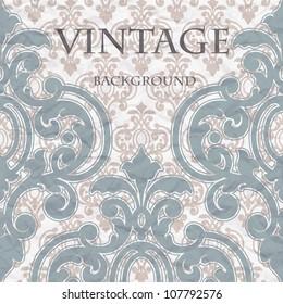 The pattern on vintage background
