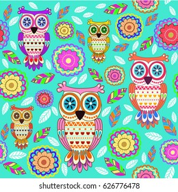 pattern with owl