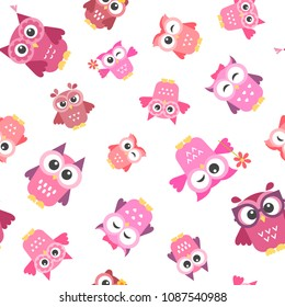 pattern with owls girls
