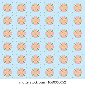 a pattern of pink flowers