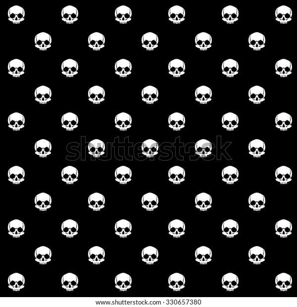 Pattern Pirate Skull Wallpaper Tattoo Parlor Stock Vector