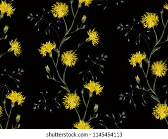 pattern; print; leaf; vector; sunflower; floral; design; abstract; little; illustration; graphic; seamless; tile; beautiful; fashion; small; spring; art; background; beauty; bloom; blossom; color; emb