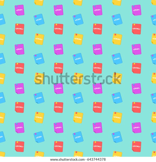 Pattern Programming Languages Colorful Books Colorful Stock