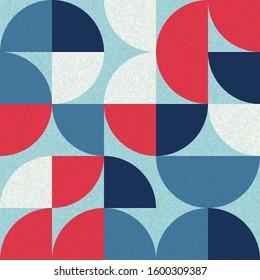 Pattern with random colored quarter circles Generative Art background illustration