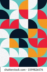 Pattern with random colored triangles Generative Art background illustration