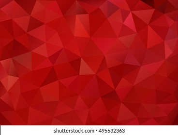 Pattern red color geometric style.