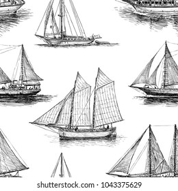 Pattern of the sailings ships
