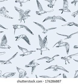 pattern of seagulls