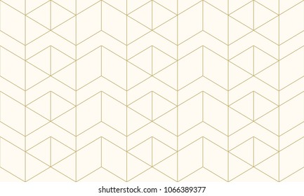 Pattern seamless abstract  background gold luxury color and line. Geometric line vector.