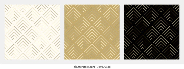 Pattern seamless chevron abstract wave background stripe gold luxury color and line. Geometric line vector.