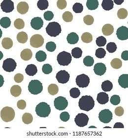 Pattern Seamless Coloring Points. For your design. Vector.