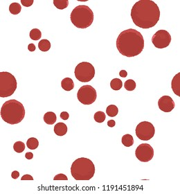 Pattern Seamless Coloring red points. For your design. Vector.