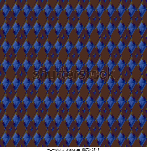 Pattern seamless geometric. Vector background with colorful rhombuses. Print on textile.