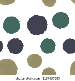 Pattern Seamless polka points of different colors. For your design. Vector.