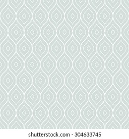 Pattern with seamless vector ornament. Modern stylish geometric background with repeating dotted waves