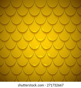 Pattern of semicircles in squama style. Bright colored shiny backdrop. Vector design template.