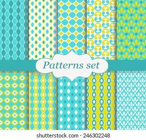 Pattern set yellow and blue