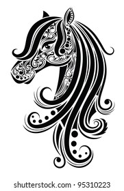 Pattern in a shape of a horse.