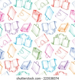 pattern with the shopping bags