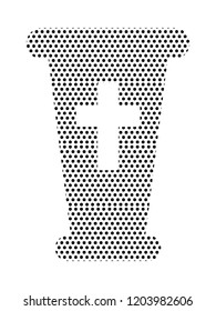 Pattern Silhouette of a Holy Grail Icon