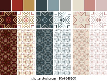pattern of simple tiles only with lines to make shapes