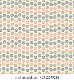 A pattern with a small image of flowers in blue, green, red. Flowers are arranged on a beige background in a dynamic order. Formulation of textiles, paper, photo albums, stationery, phone covers.