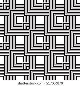 Pattern from squares. Black and white seamless