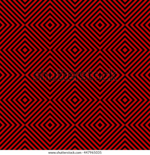 Pattern stripe seamless black and red colors. Striped abstract background vector.