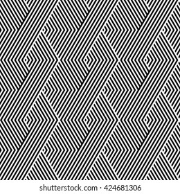 Pattern stripe seamless black and white colors design for fabric, textile, fashion design, pillow case, gift wrapping paper; wallpaper etc. Chevron stripe abstract background vector.
