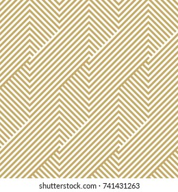 Pattern stripe seamless gold colors luxury design for greeting season Christmas and happy new year. Chevron pattern stripe abstract background vector.