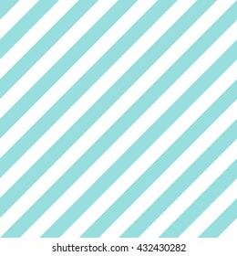 Pattern stripe seamless green aqua and white colors design for fabric, textile, fashion design, pillow case, gift wrapping paper; wallpaper etc. Diagonal stripe abstract background vector.