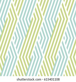 Pattern stripe seamless green two tone and white colors. Wave stripe abstract background vector.