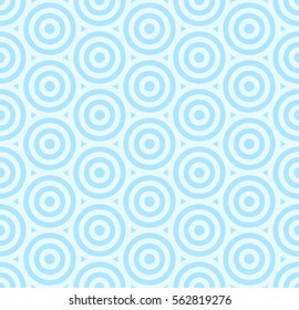 Pattern stripe seamless sweet blue two tone colors. Circle pattern stripe abstract background vector.