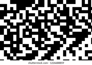 Pattern in the style of 8-bit graphics with small squares. Pixel background. Retro pattern of 80's. Scalable vector graphics.