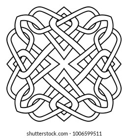 Pattern of swirling lines. Element for the cover of the book, postcards, t-shirts. Illustration for rugs.