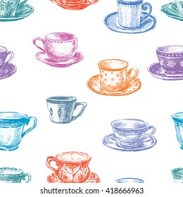 pattern of the tea cups