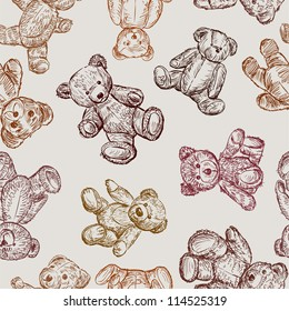 pattern with a teddy