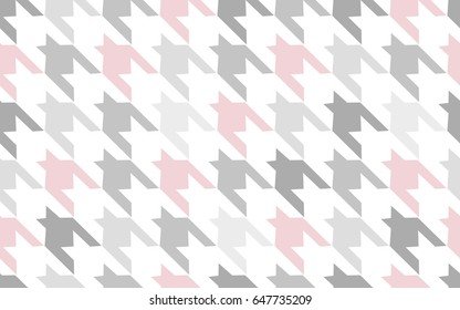 Pattern texture repeating seamless. Gray. Pink. White. Abstract fashion background. French cage. Geometric pattern. Vector Illustration. Beautiful pattern for fabric or wallpaper. Vector pattern