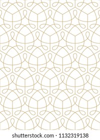 Pattern with thin curl lines and scrolls. Monochrome geometric simless abstract line pattern. Decorative lattice.