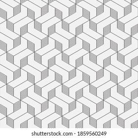 Muster mit dünnen Linien und Polygone auf weißem Hintergrund. Vektor Stilvolle abstrakte geometrische Diamantstruktur für Schmuckdesign. Nahtloses lineares Muster für Gewebe, Textilien und Umhüllung. Trendy Swatch.