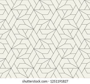 Pattern with thin straight lines and geometric shapes. Abstract 3d linear stylish texture. Monochrome modern background. Linear graphic illustration.